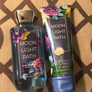 Bath and body works- moon light path gel & lotion